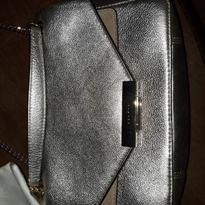 Sandro metallic bag with duster